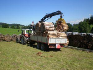 Brennholz Lieferung